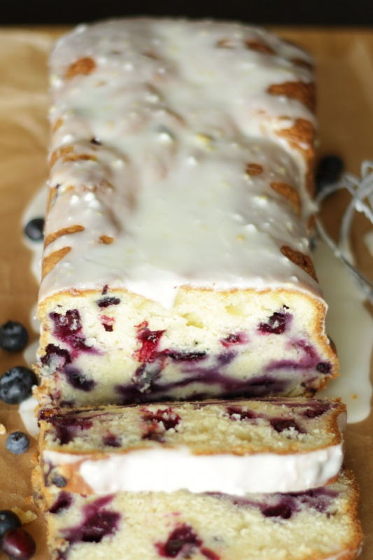 Lemon Blueberry Bread ~ Living on Cookies