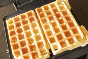 Buttermilk Waffles ~ Living on Cookies