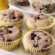 Zitronen-Heidelbeer Cheesecake Muffins