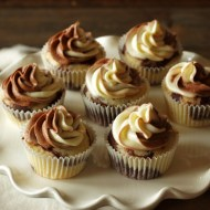 Marble Cupcakes with Marble Cream Cheese Frosting