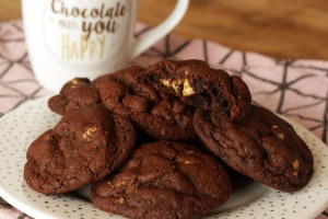 Dark Chocolate Espresso Walnut Cookies