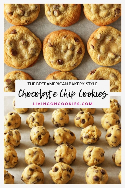 Chocolate Chip Cookies are the easiest thing in the world to bake and anyone can bake them! This post is about explaining which ingredients to use and giving you clear and concise instructions so that your cookies are the best American bakery-style chocolate chip cookies cookies too!