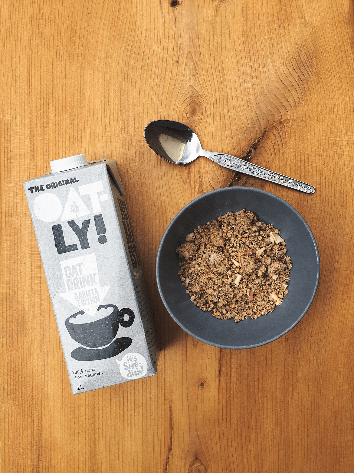 the best dairy free milk - oatly barista edition