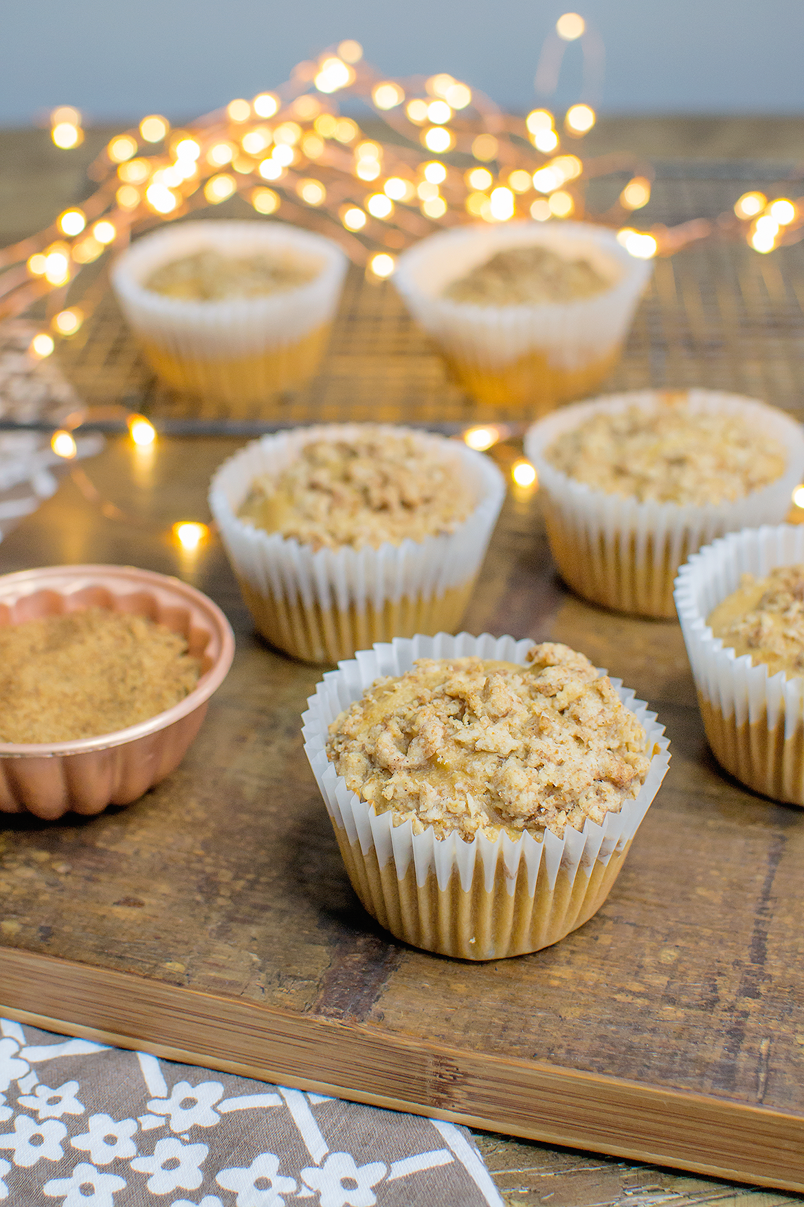 vegan toffee apple muffins refined sugar free