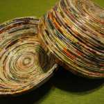 Recycle old magazines into beautiful bowls