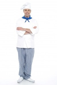 "Dress as a chef — add flour to create the ""mad chef"" look. Photo by StockImages, freedigitalphotos.net"
