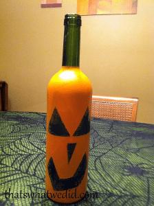 pumpkin wine bottle