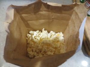Brown-bag popcorn