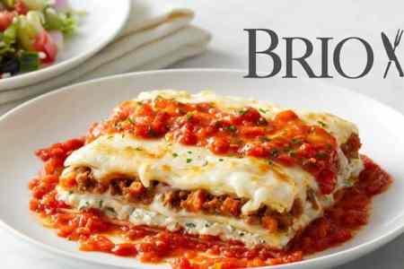 BRIO Tuscan Grille serves half-price lasagna