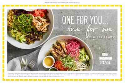 California Pizza Kitchen Bogo Free Power Bowl Charlotte