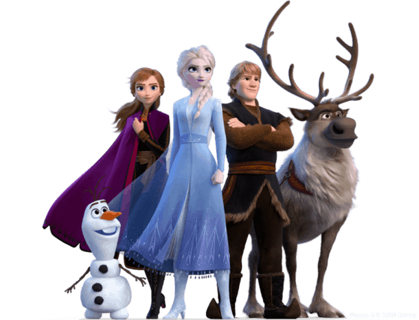 Disney's Frozen II movie characters for free movie ticket