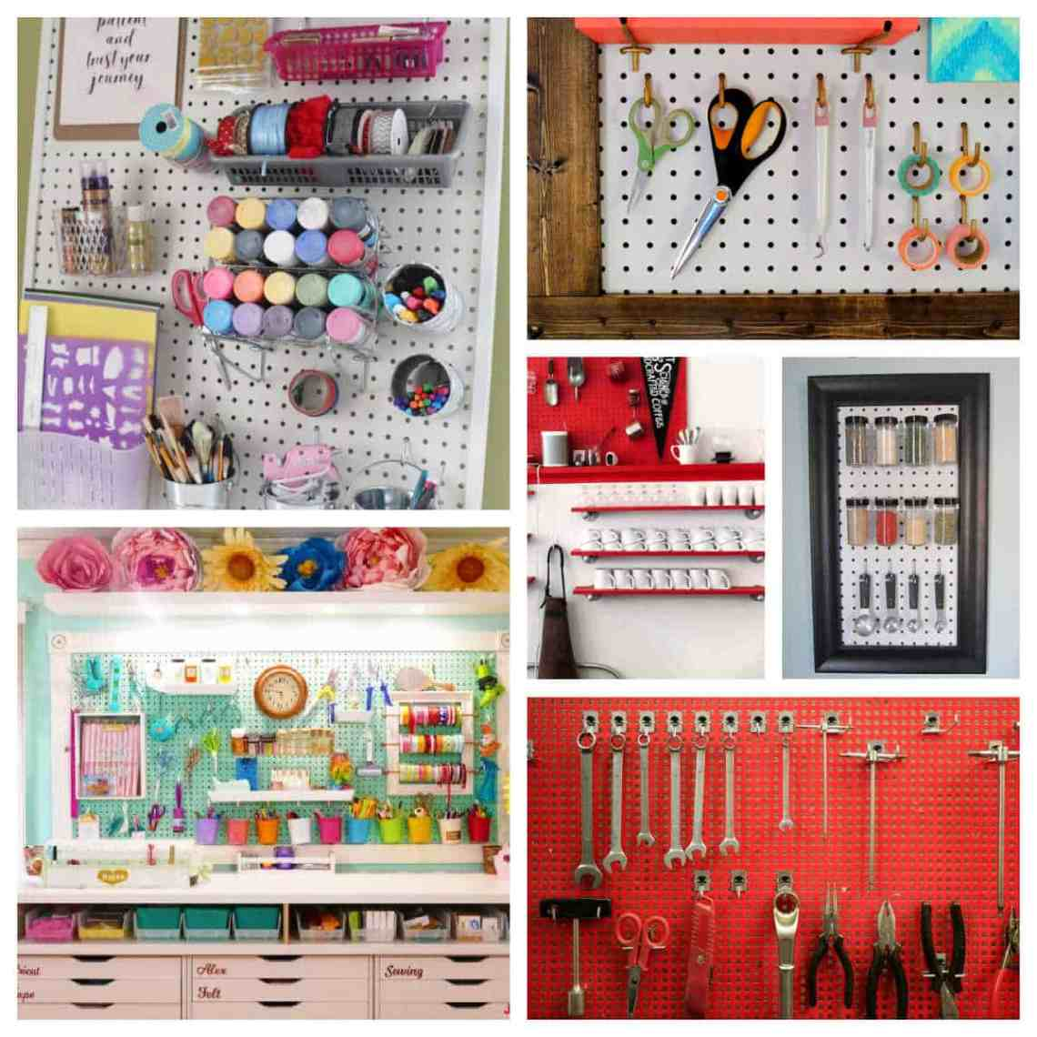 How To Organize Your Life With Pegboard Living On The Cheap