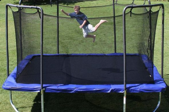 best square trampoline for sale