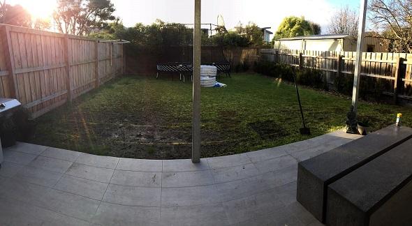 How to dry muddy yard