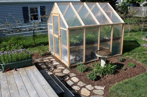 building a backyard greenhouse