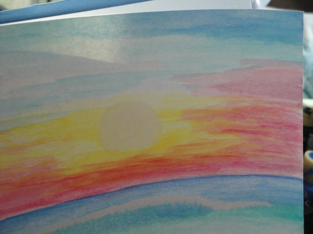 Zale's Tales children's book artwork - morning sun over water