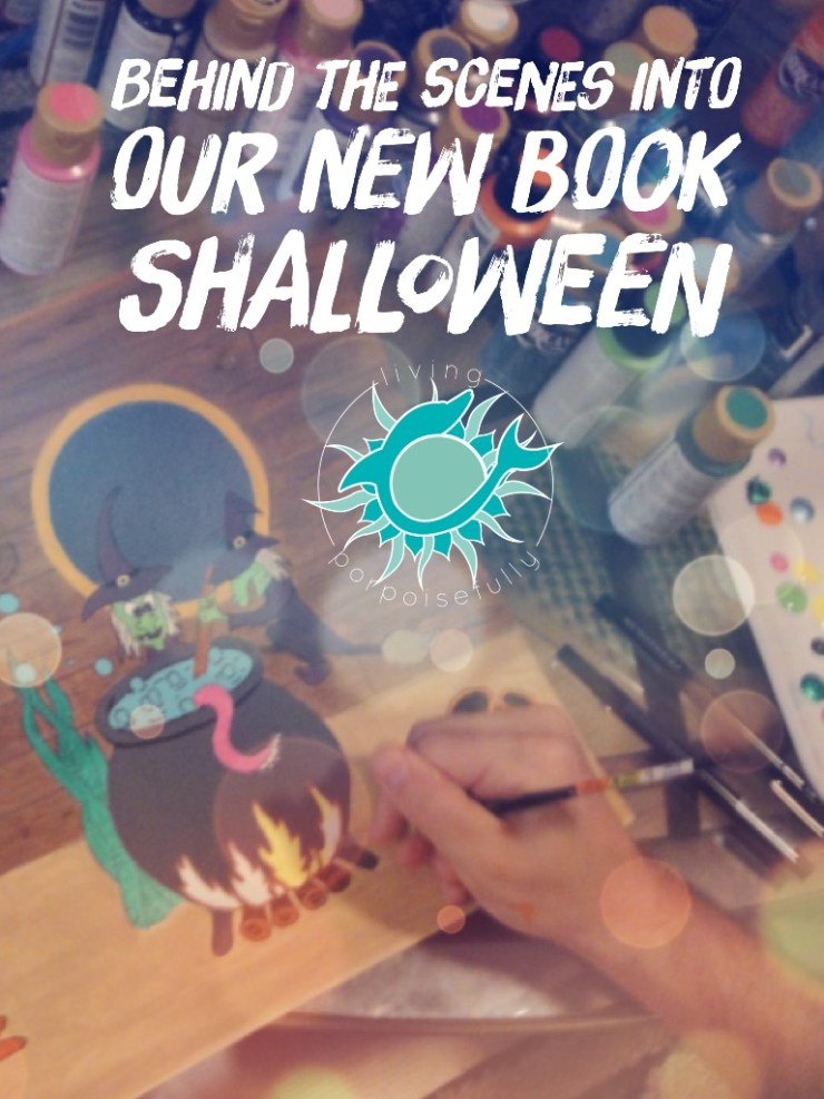 illustrating behind the scenes into Shalloween - our ocean themed Halloween children's book