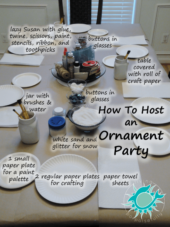 table setup for ornament crafting 2