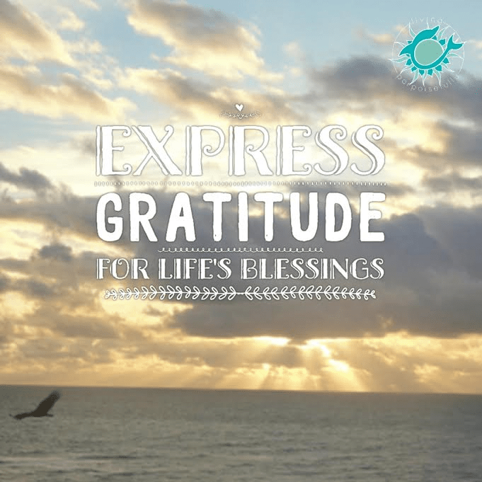 express gratitude for life's blessings