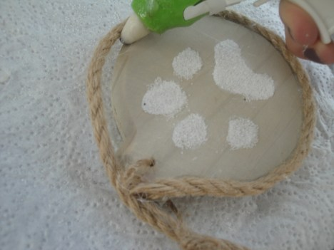 paw print ornament rope