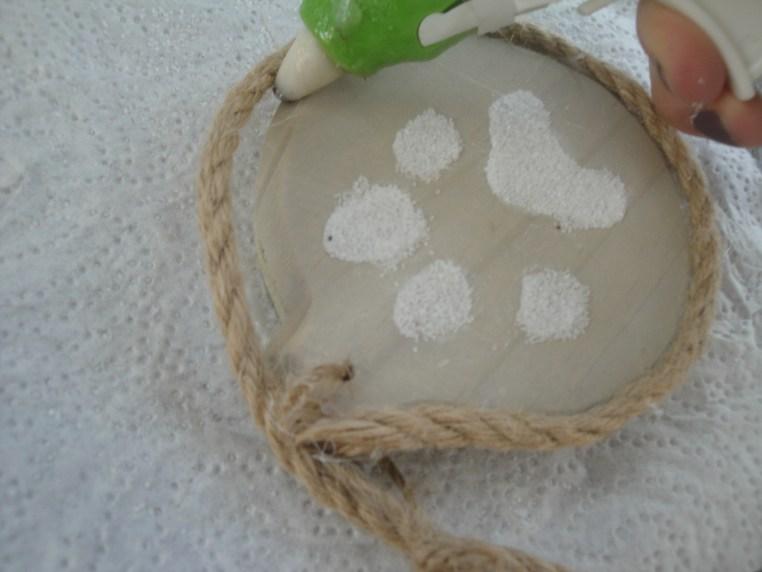 paw print ornament rope