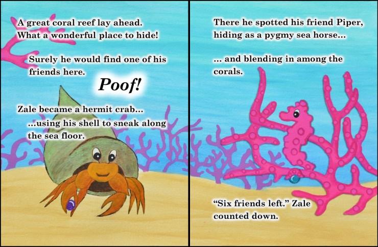 Zale's Tales Volume 2: The Ocean Seeker - coral reef page