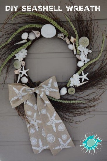 DIY Seashell Wreath