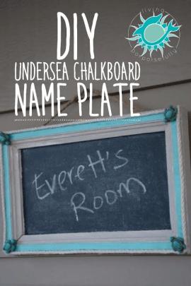 DIY Undersea Chalkboard Name Plate