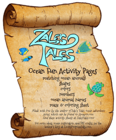 Ocean Fun Activity Pages notebook cover
