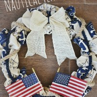 DIY Nautical Flag Wreath
