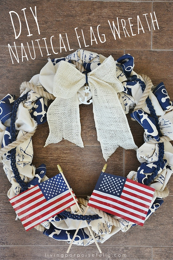 DIY Nautical Flag Wreath