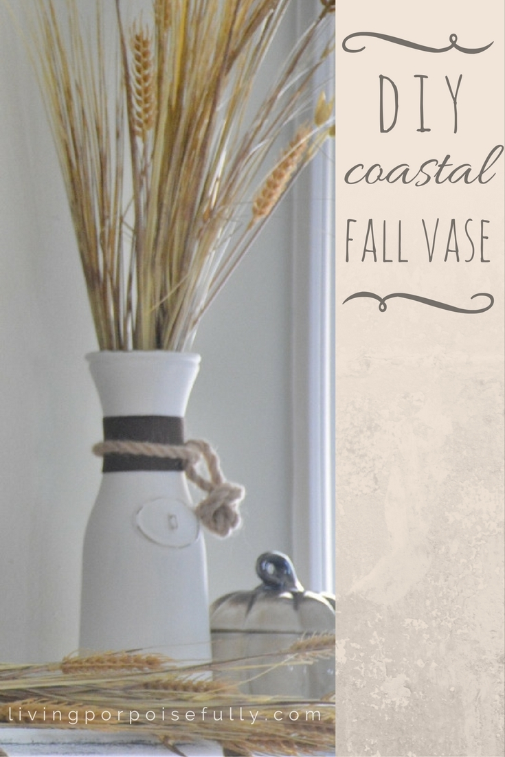 DIY Coastal Fall Vase