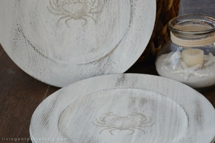 diy-coastal-crab-charger-plates