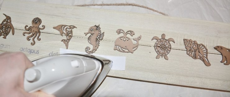 sea animals wall art step 4 - iron on letters
