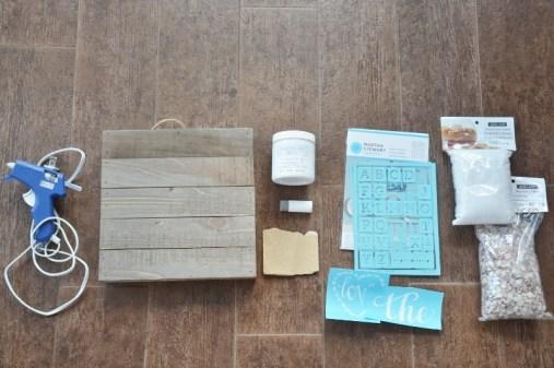 craft supplies - diy coastal rustic wood plaque