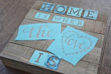 diy coastal rustic wood plaque craft STEP 1b