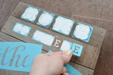 diy coastal rustic wood plaque craft STEP 2b