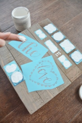 diy coastal rustic wood plaque craft STEP 2d