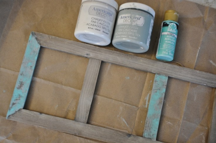 beachy distressed frame