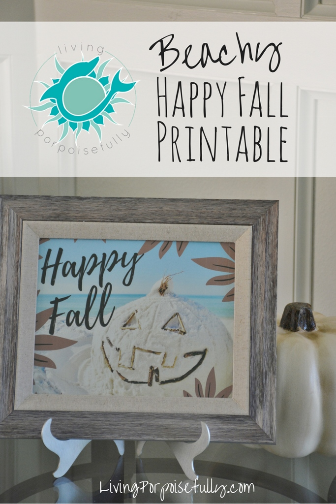 Beachy Fall Printable (free!)