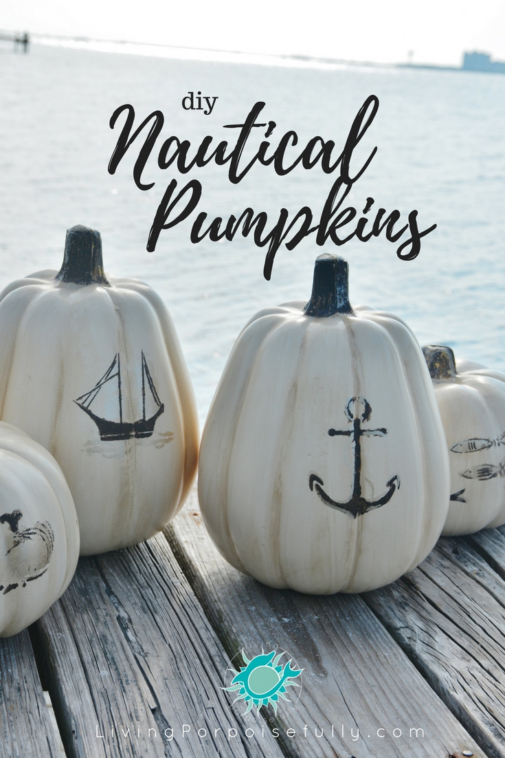 DIY Nautical Pumpkins