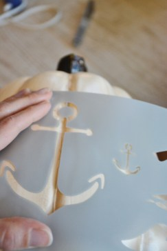 diy nautical pumpkins step 1