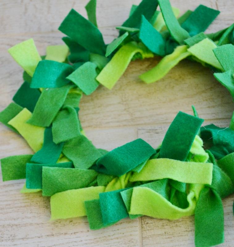 felt wreath craft