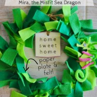 Mira the Misfit Sea Dragon Wreath Craft for Kids