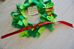 tie a red ribbon on the bottom 1