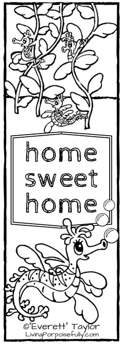 home sweet home - Mira the Misfit Sea Dragon bookmark
