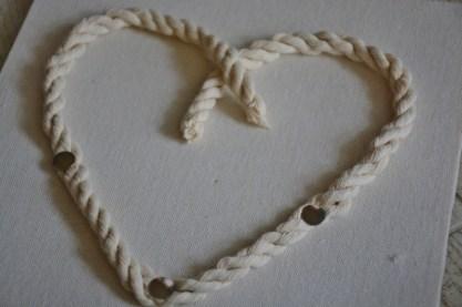 rope seashell shadowbox step 1f