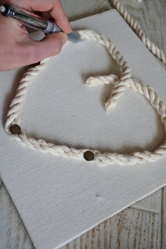 rope seashell shadowbox step 2a