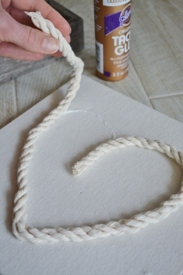 rope seashell shadowbox step 2c