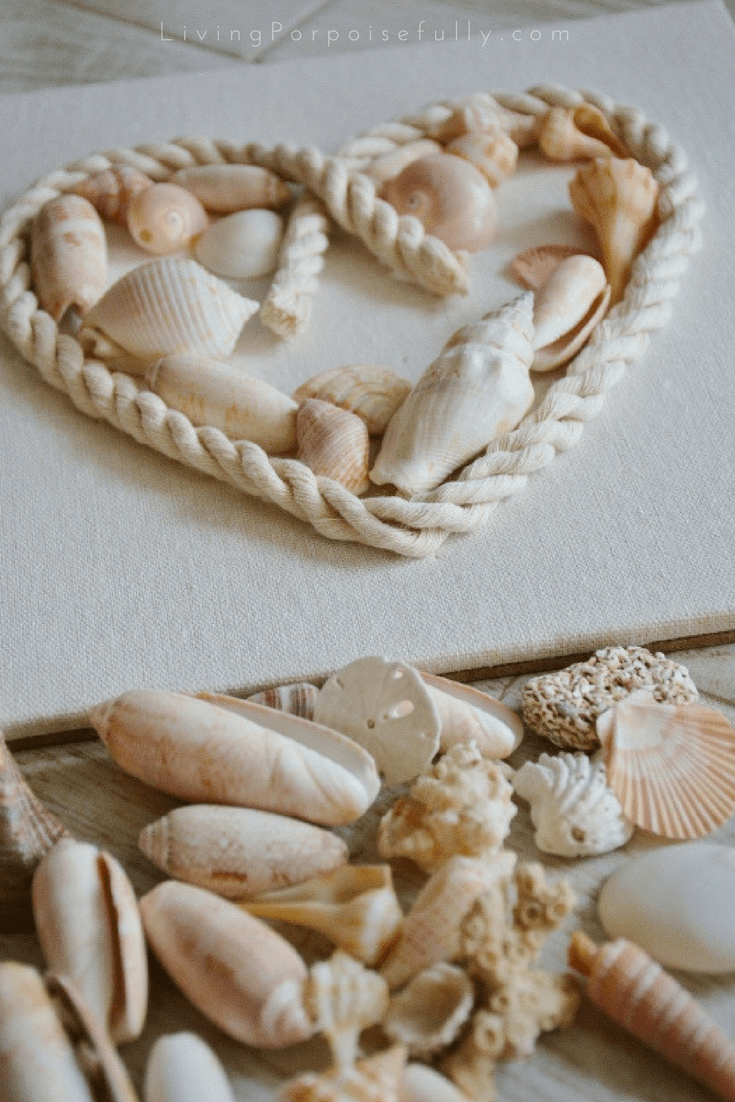 seashell heart shadowbox
